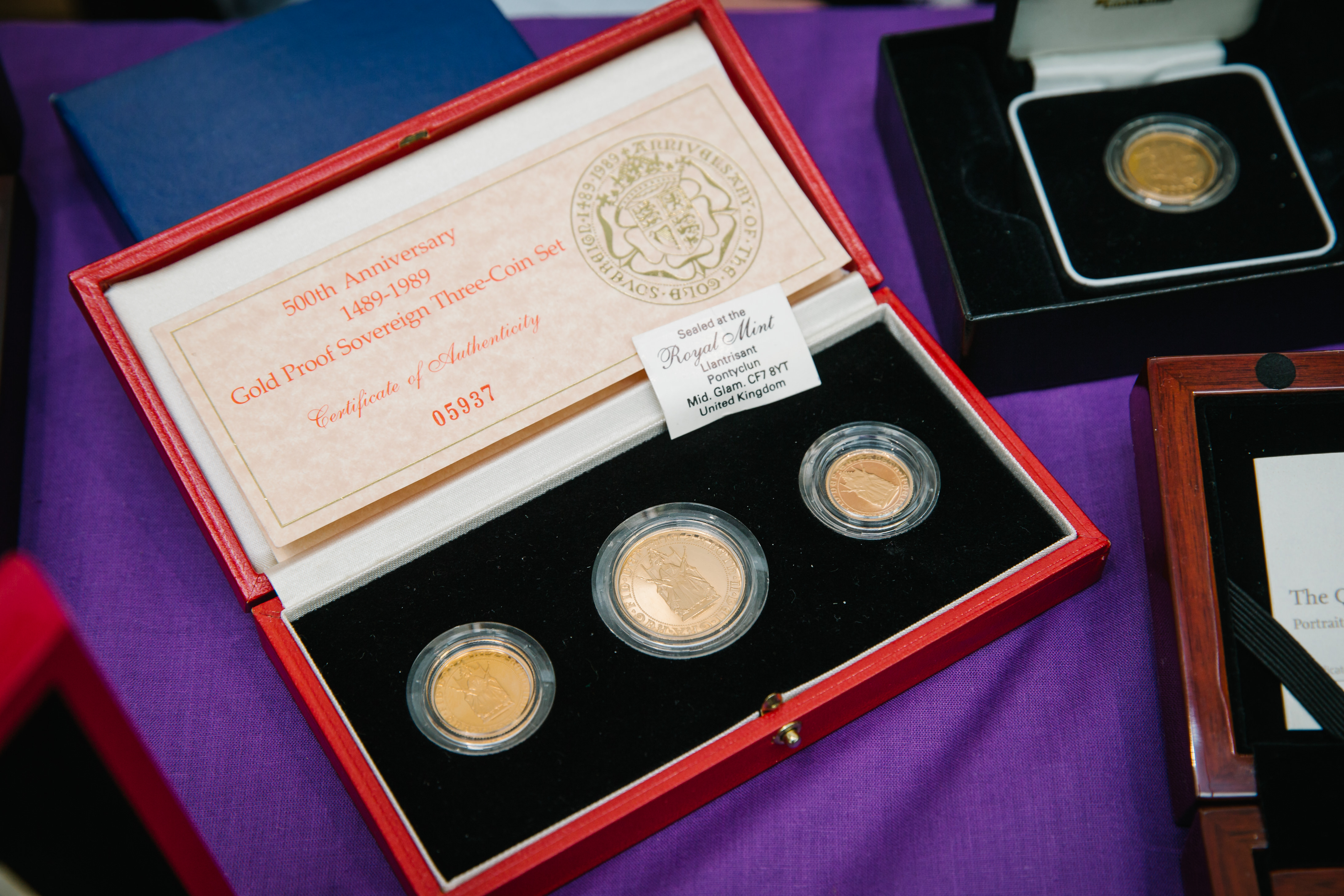 Coin auction - rare gold and silver