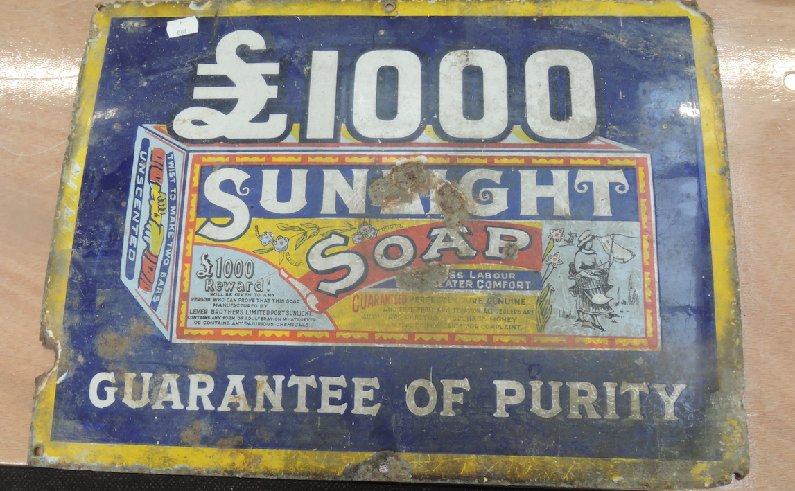 enamel advertising sign auction