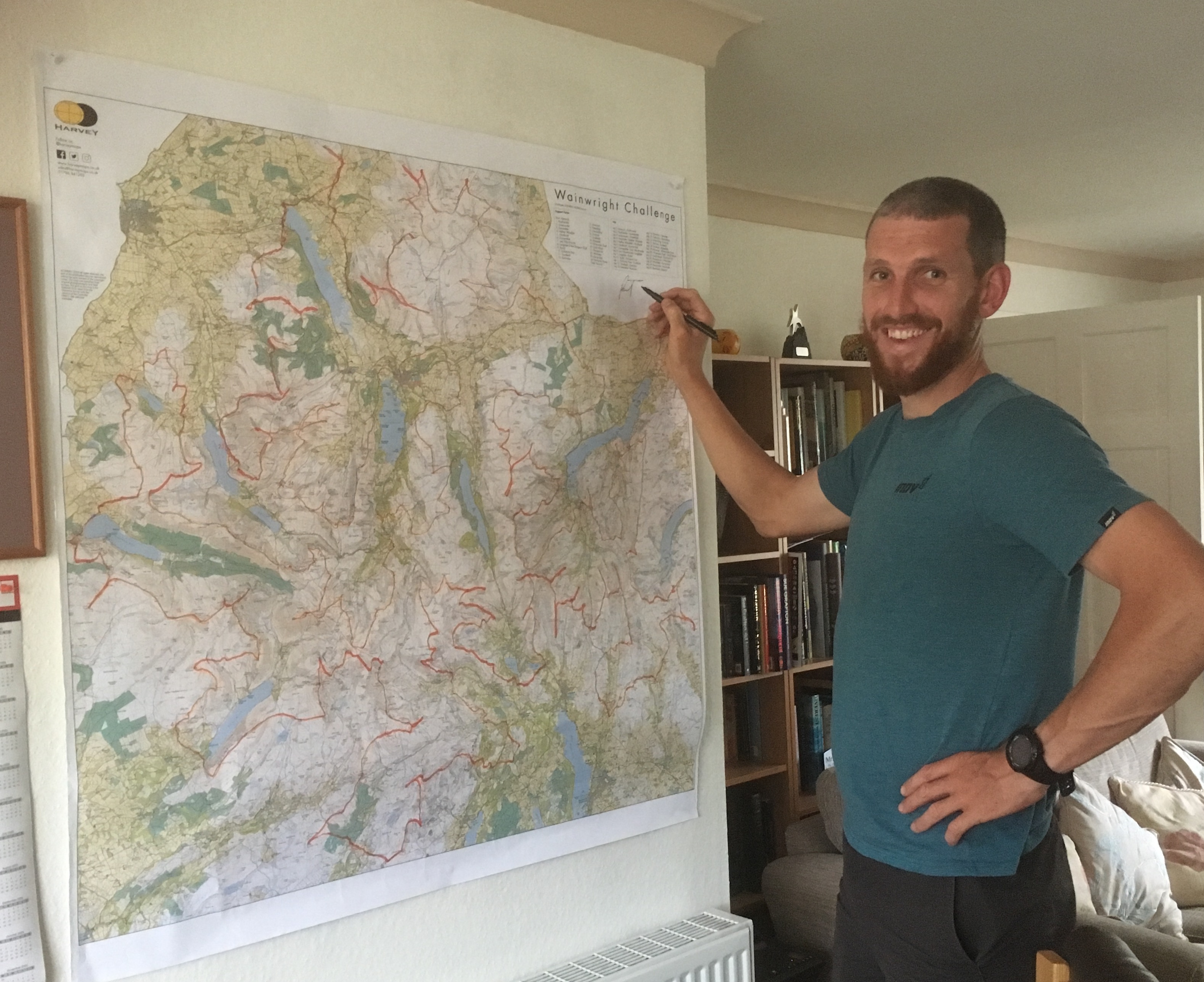 map auction - map from Paul Tierney's fell run