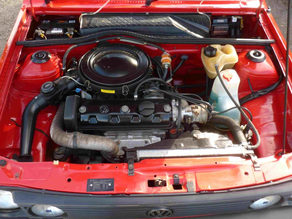 Engine on the 1989 VW POLO 1.3 CL, which will sell at auction in October