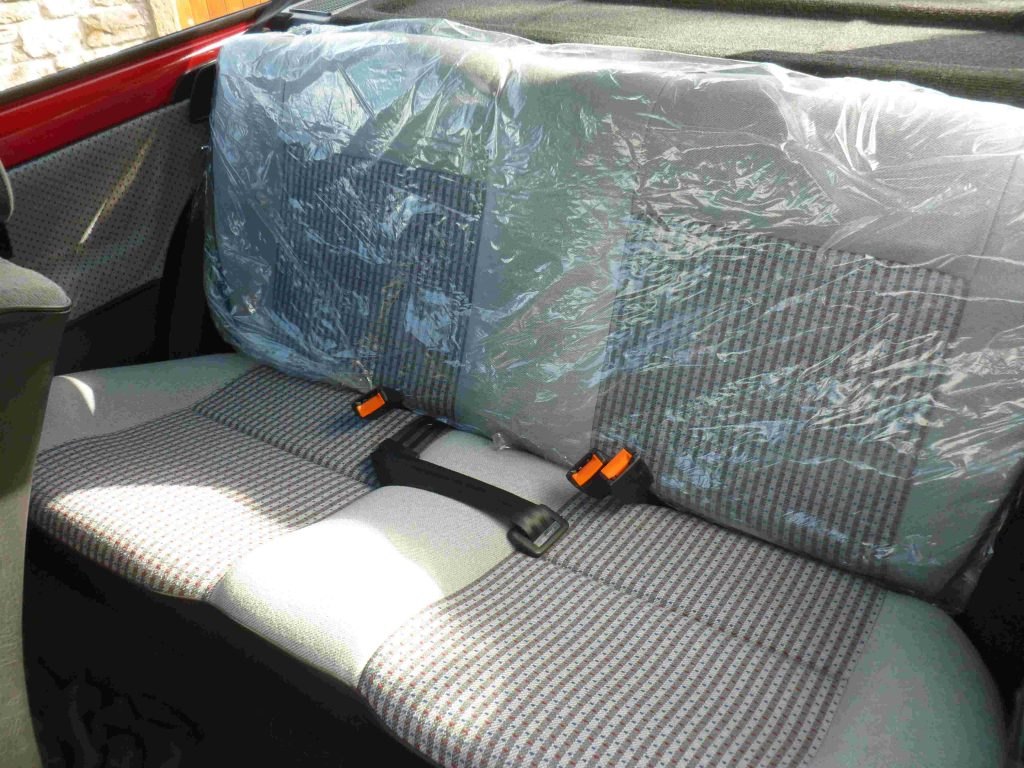1989 VW POLO 1.3 CL, which is in totally unmolested, original condition (rear seat covers shown)