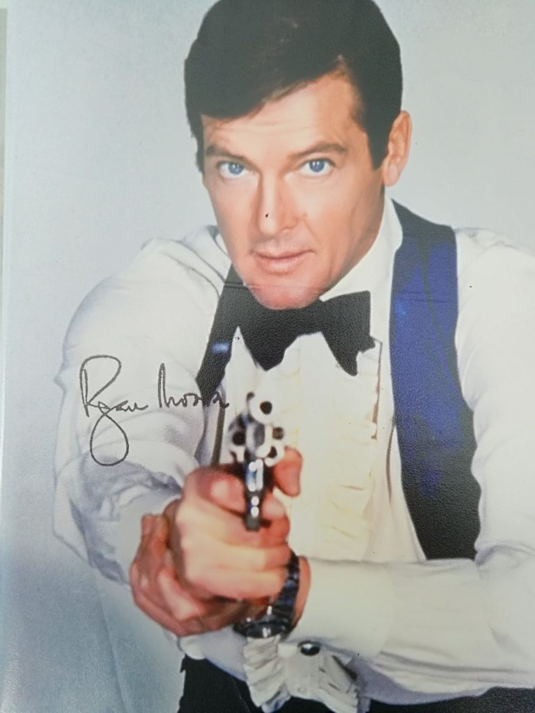 Roger Moore 007 Signed Photo: Autograph and Memorabilia Collection
