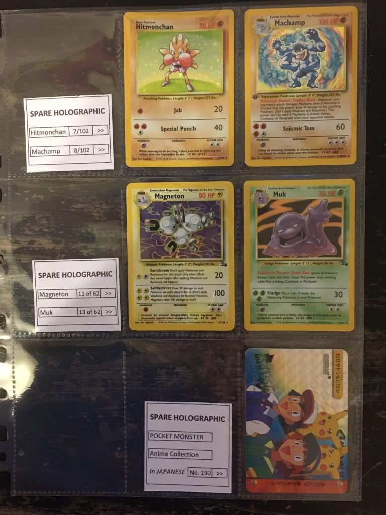 pokemon collection at auction spare holographic cards